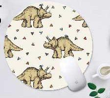 WINSHINE Alfombrilla de ratón Dinosaurio Triceratops