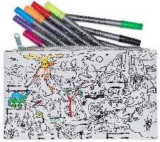 Estuche de tela para colorear Dinosaurios