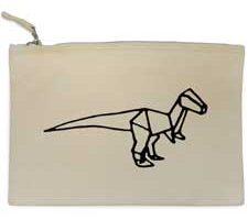 Azeeda Dinosaurio de Origami Bolso de Embrague