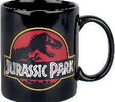 Close Up Jurassic Park Taza Classic Logo