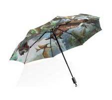 ISAOA Paraguas de Viaje Plegable Dinosaurio Jurásico