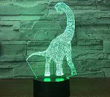 Jinson well Dinosaurio lámpara de mesa Brachiosaurus