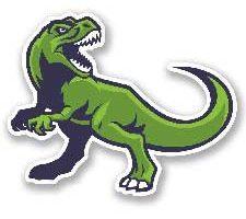Etiqueta autoadhesiva de vinilo T-Rex dinosaurio para coche