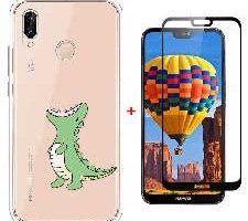 Laixin Funda para Huawei P20 Lite Dinosaurio