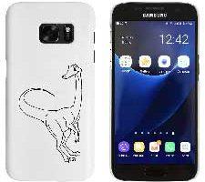 Dinosaurio de Gallimimus' Funda Blanca Samsung Galaxy S7