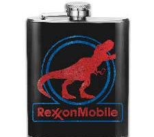Rundafuwu Flask for Liquor and Funnel T-rex RexxonMobile