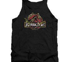 Jurassic Park Camiseta sin Mangas para Adulto Dinosaurio