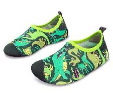 L-Run Kids Calcetines Descalzos Aqua Socks de Dinosaurios