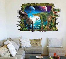 Zooarts Dark Night Adhesivo de pared de Dinosaurios