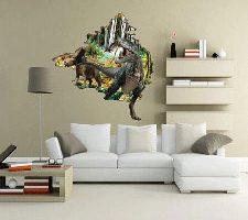 Adhesivo decorativo para pared de Dinosaurios