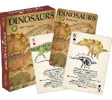 Aquarius Smithsonian dinosaurio jugando a las cartas