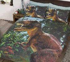 Jurassic T-Rex Juego de Fundas de edredón y Almohadas
