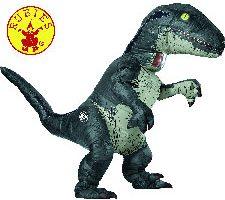 Jurassic World Disfraz Hinchable de dinosaurio Velociraptor para adulto