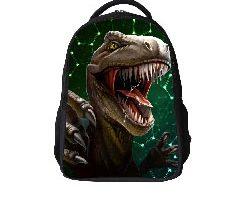 Mochila de escuela de dinosaurio 3D para niños