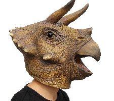 PartyCostume Máscara de Fiesta Traje Lujo de Halloween Triceratops