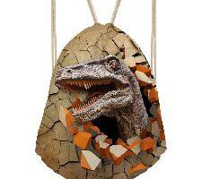 Showudesigns Mochila con cordón para Deportes diseño de Dinosaurio Velociraptor
