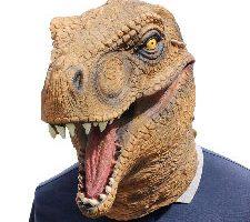 Amosfun Máscara de Halloween Dinosaurio para Hombre y Mujer