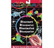 Melissa & Doug Hojas de diseños scratch art de dinosaurios