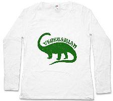 Vegetarian Dinosaur Mujer Camiseta De Manga Larga Brontosaurus