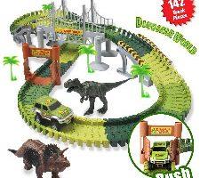 ACTRINIC Pista de Carreras Juguetes de Dinosaurios