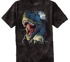 The Mountain Camiseta Lightening Rex Dinosaur Unisex