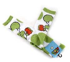 Medias Super Mario Yoshi blanco y verde