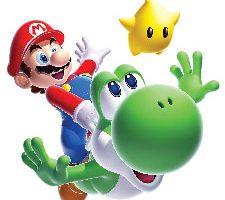 Jomoval Roommates Adhesivo para pared Super Mario Galaxy 2 y Yoshi