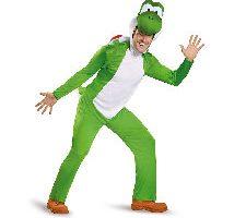 Super Mario Bros Yoshi Deluxe Disfraz adulto