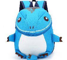 DafenQ Mochila Infantil 3D Dinosaurio Azul