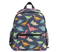 ISAOA Mochilas Escolares con Dinosaurios de colores Fondo Azul